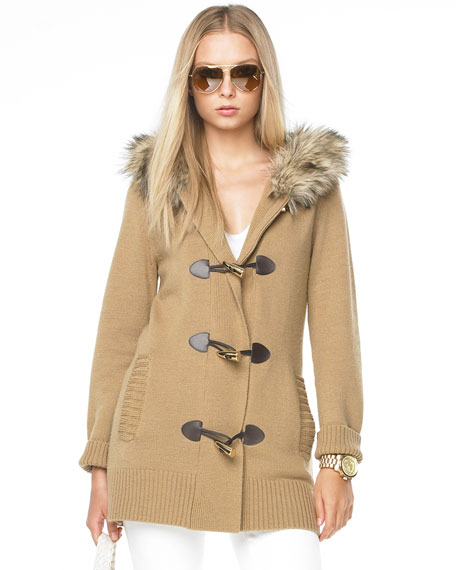 Fur-Collar Toggle Coat