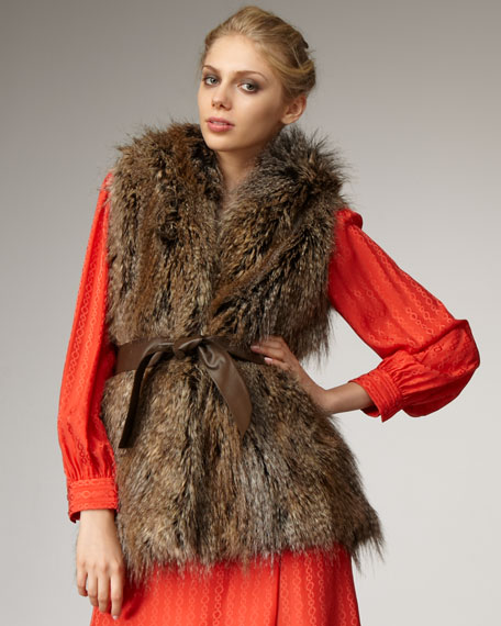 Braden Faux-Fur Hooded Vest