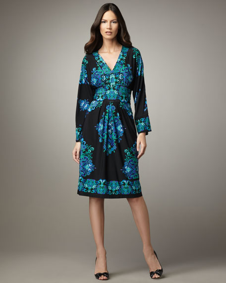 Medallion-Print Jersey Dress, Women's