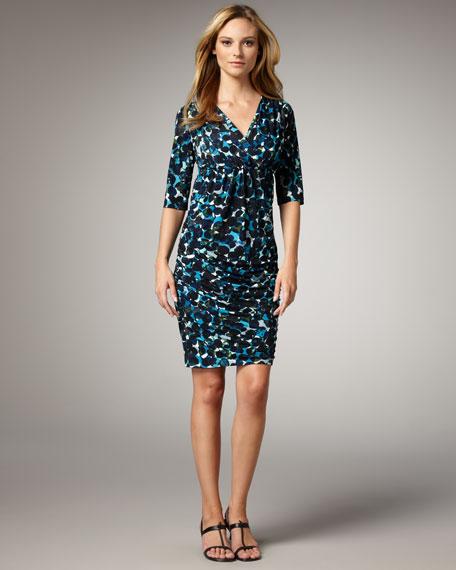 Dot-Print Jersey Dress, Women's