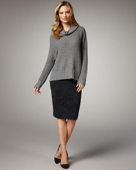 Jacquard Pencil Skirt, Petite