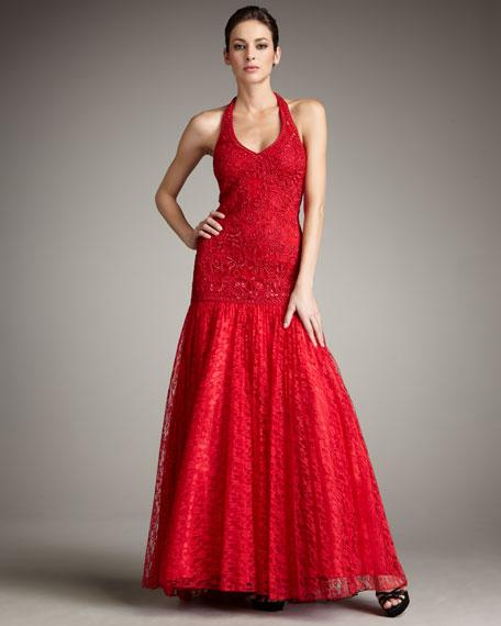 Long Lace Gown