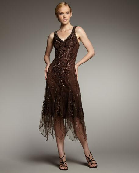 Tiered-Chiffon Dress