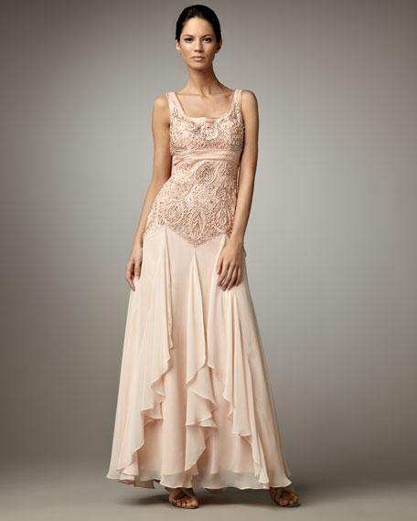Drop-Waist Gown