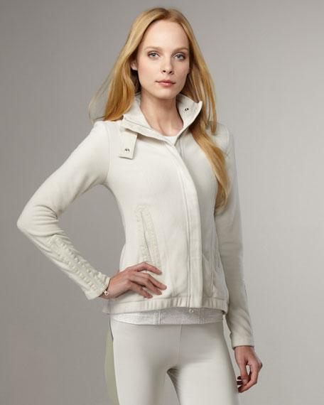 Fleece Zip Moto Jacket