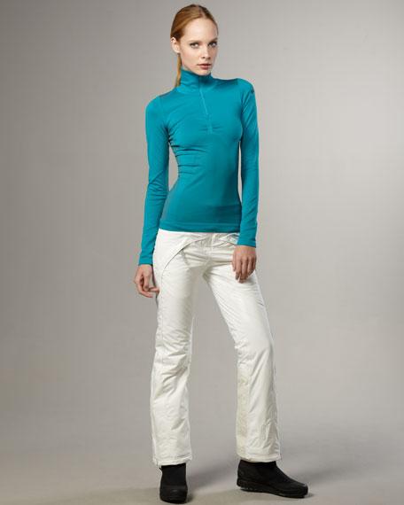 Wide-Leg Ski Pants, White