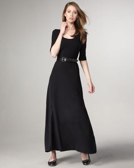 Scoop-Neck Maxi Dress