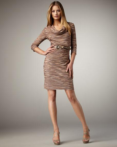 Bargello-Knit Dress
