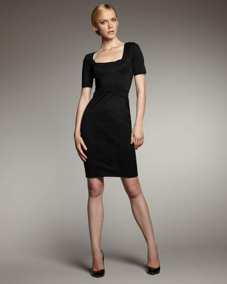 Bandage Scoop-Neck Dress