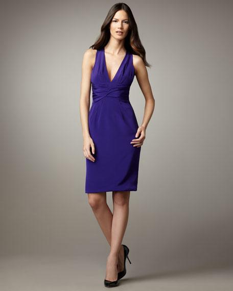 Stretch Silk Halter Dress