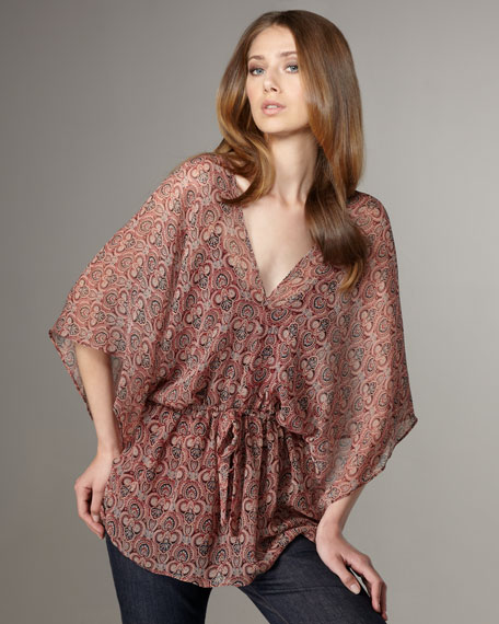 Gypsy Printed Kimono Top