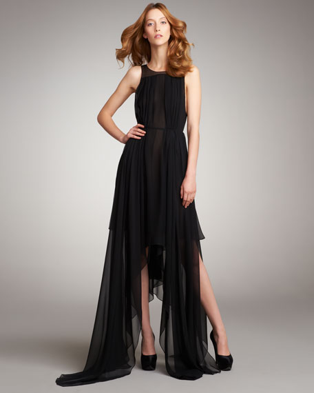 Layered Chiffon Dress