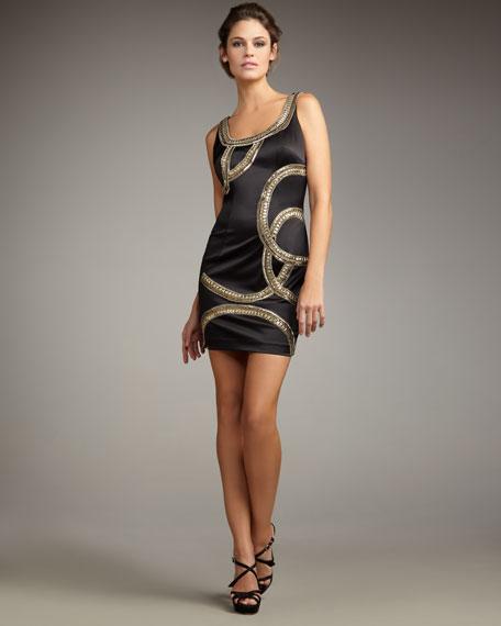 Arced Beaded Dress