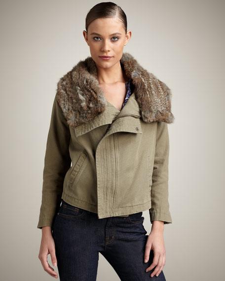 Helene Fur-Trim Jacket