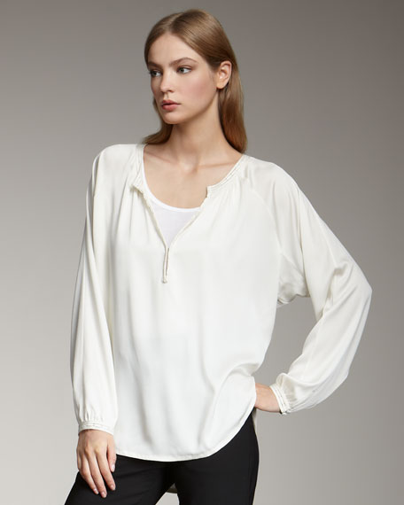 Stretch-Silk Blouse