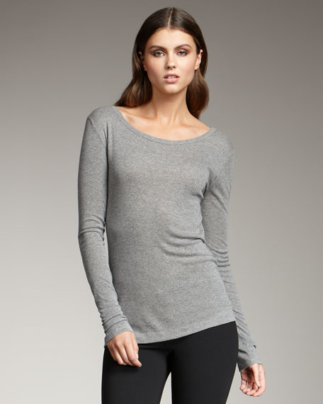 Boat-Neck Knit Tee