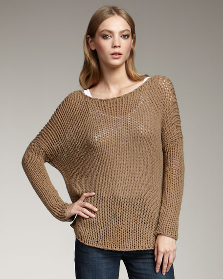 Chunky Knit Sweater, Brown Sugar