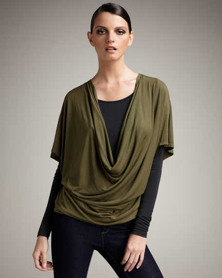 Double-Layer Draped Tee