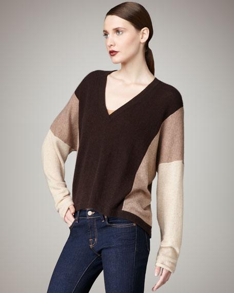 Cashmere Colorblock Sweater