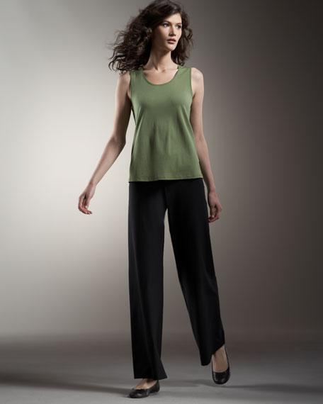 Modern Wide-Leg Crepe Pants, Women's