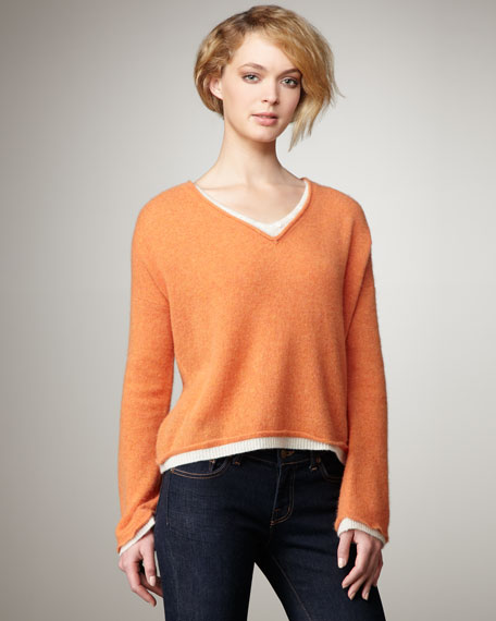 Double-Layer Cashmere Sweater