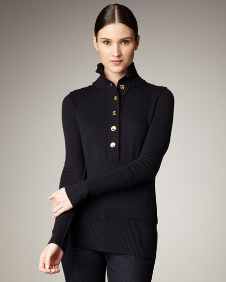 Carla Henley Turtleneck, Black