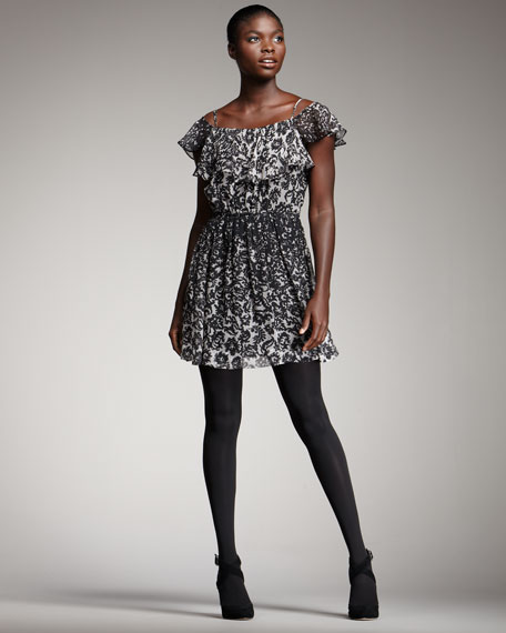 Lolly Printed Chiffon Dress