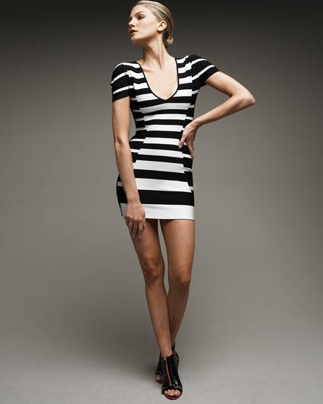 Striped Jacquard Dress