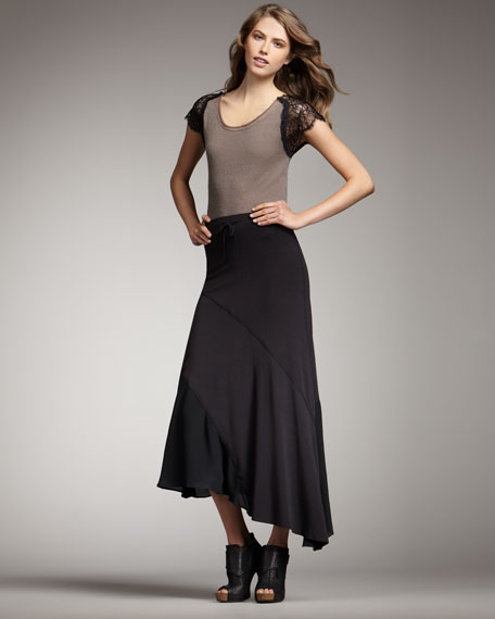 Tom Asymmetric Maxi Skirt