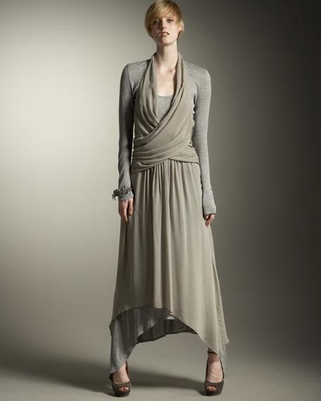Scarf-Hem Dress