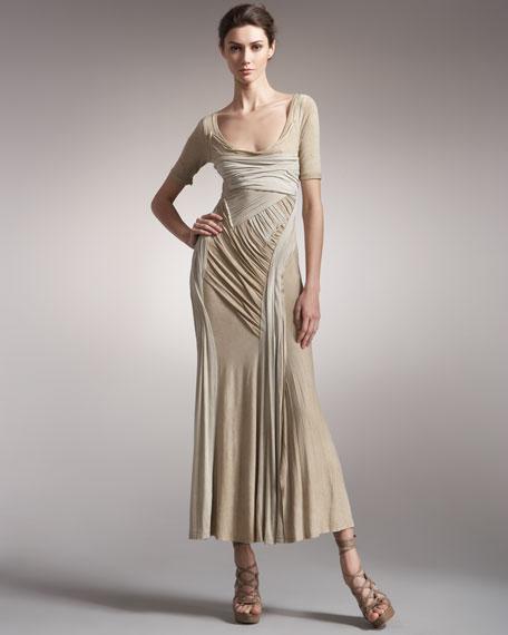 Bicolor Jersey Dress