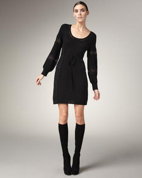 Nanette Lepore Lace-Detail Knit Dress