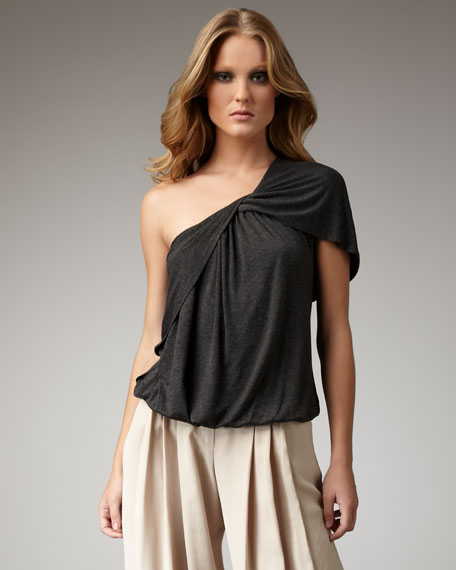 Draped One-Shoulder Top