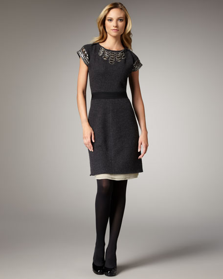 Minnie Boiled-Wool Dress