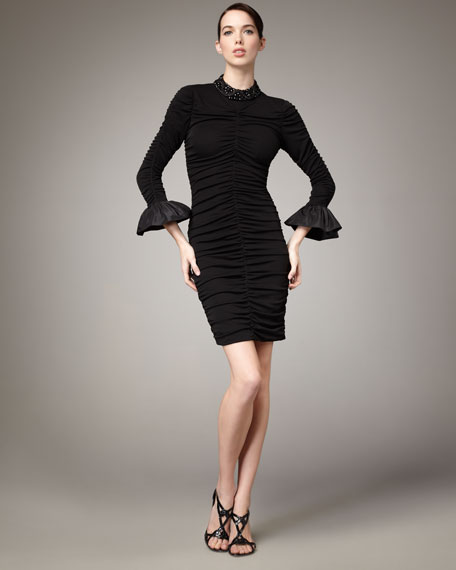 Beaded and Ruched Dress