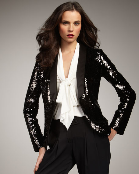 Liza Sequined Blazer