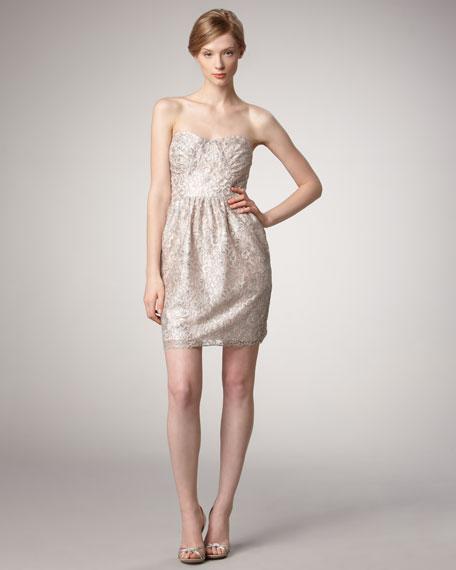 Strapless Beaded Dress