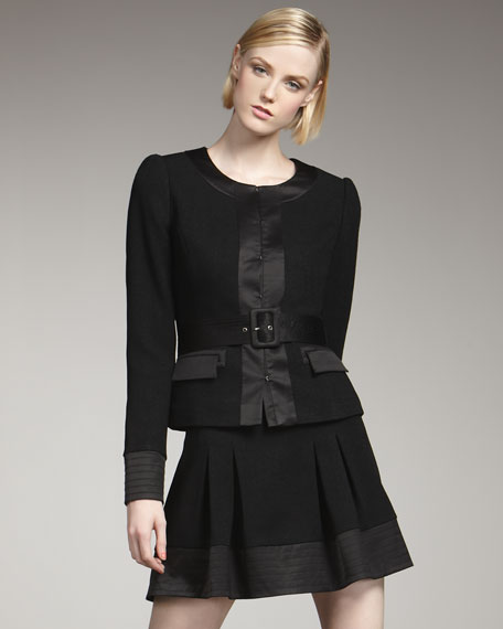 Marisa Trapunto-Stitch Skirt