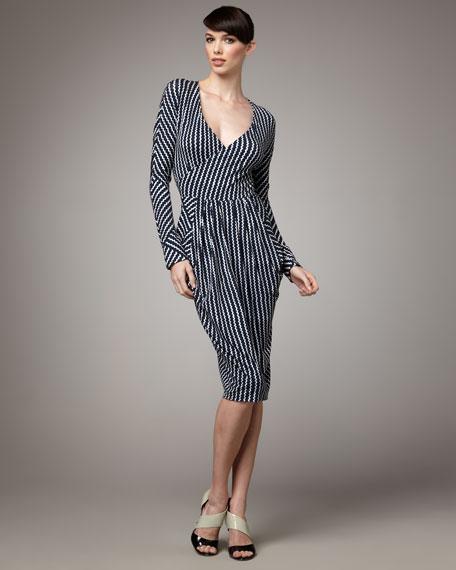 Rick-Rack Striped Dress