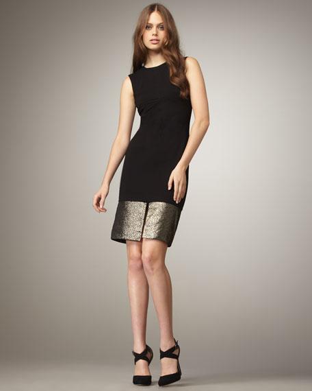 Blee Metallic-Colorblock Dress