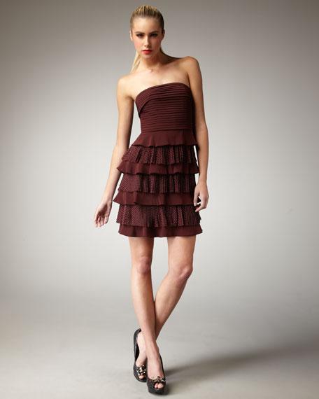 Simona Tiered Lace Dress