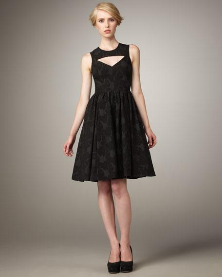 Cutout-Neck Dress