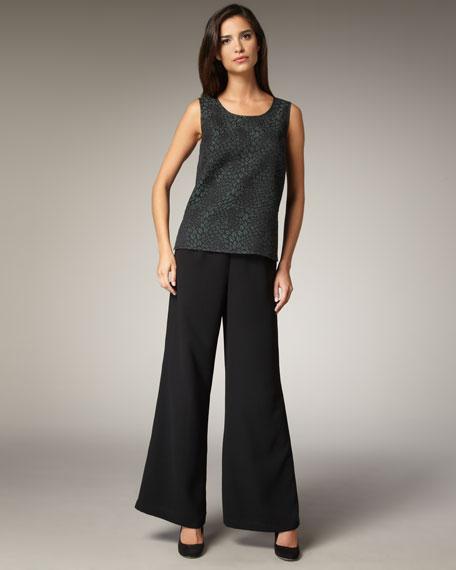 Wide-Leg Crepe Travel Pants