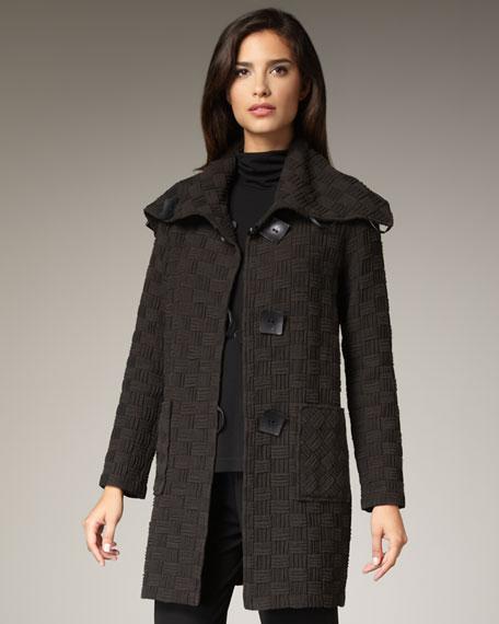 Long Basketweave Jacket, Women's
