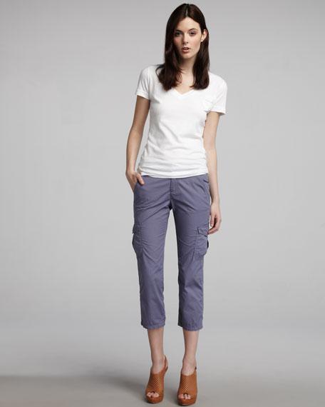 Hampton Poplin Cropped Pants