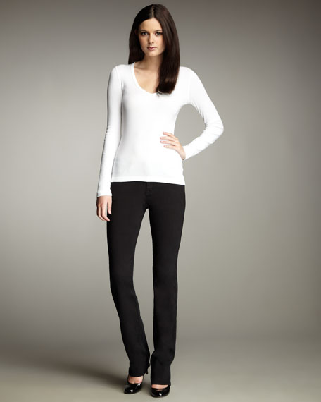 Faith Lagoon Straight-Leg Jeans