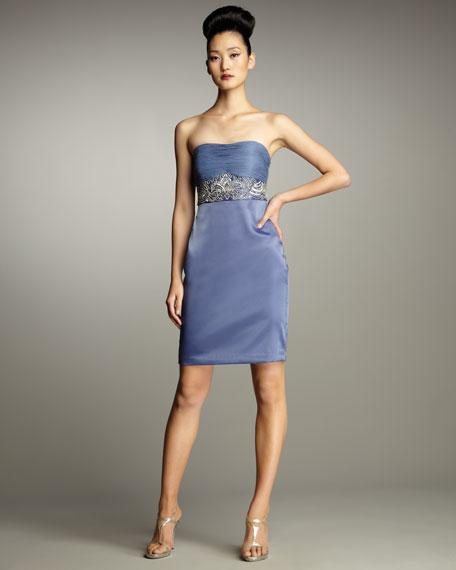 Strapless Inset Waist Dress