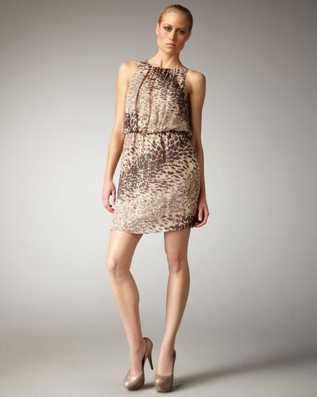Leopard-Print Blouson Dress