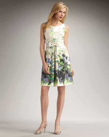 jillian printed bow dress
