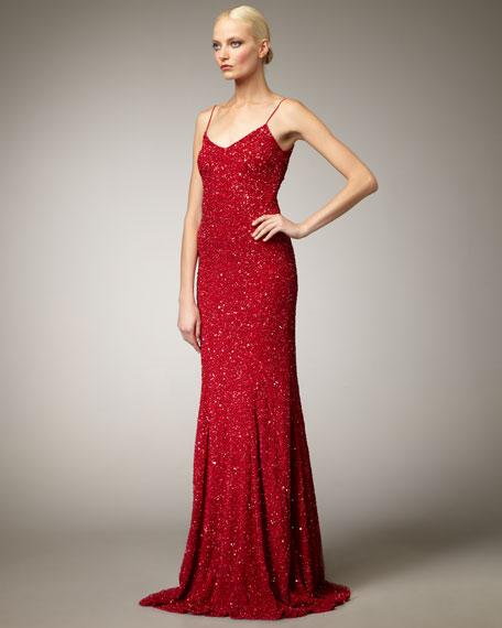 Sequin Slip Gown
